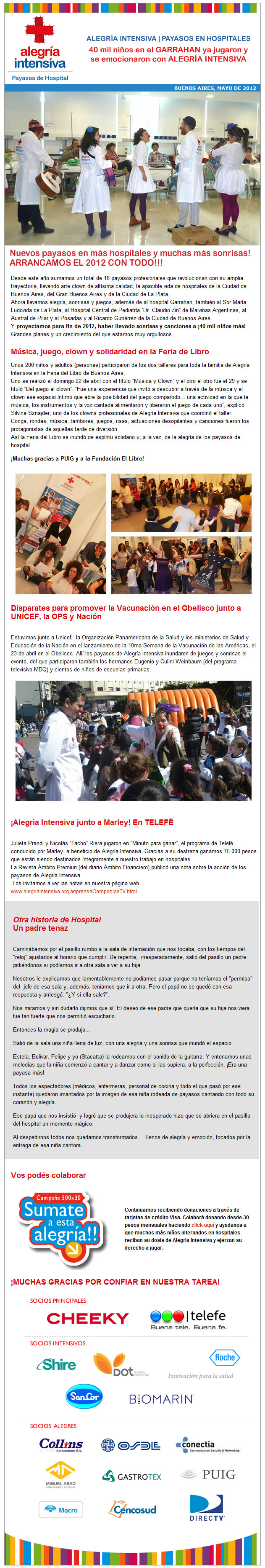 newsletter 13   Mayo 2012