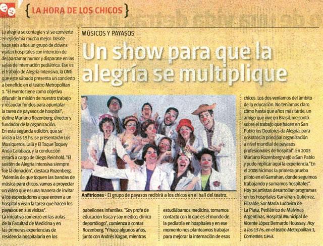 2014 09 13 Diario Tiempo Argentino